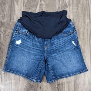 Old Navy Maternity Shorts Full Panel Size 10 5 inch